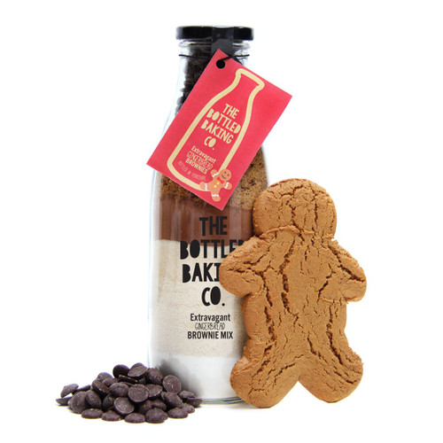 Extravagant Gingerbread Brownie in a Bottle