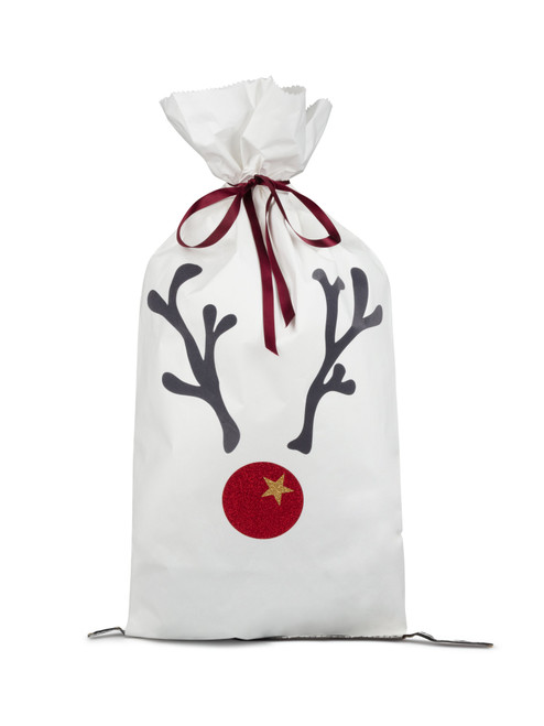 White Christmas Paper Sack by Chalk | Reindeer