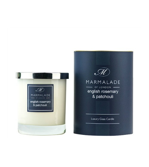 Marmalade of London English Rosemary & Patchouli Glass Candle