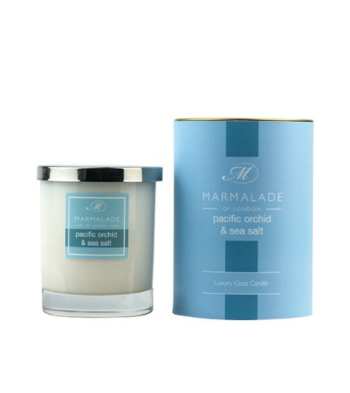 Marmalade of London Pacific Orchid & Sea Salt Glass Candle