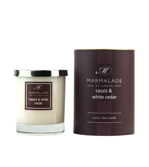 Marmalade of London Cassis and White Cedar Glass Candle