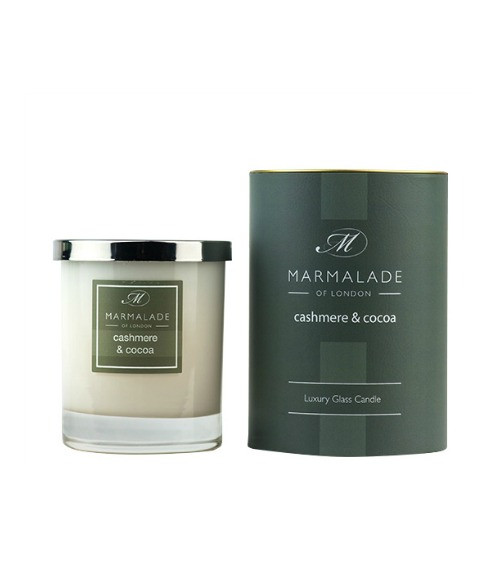 Marmalade of London Cashmere & Cocoa Glass Candle
