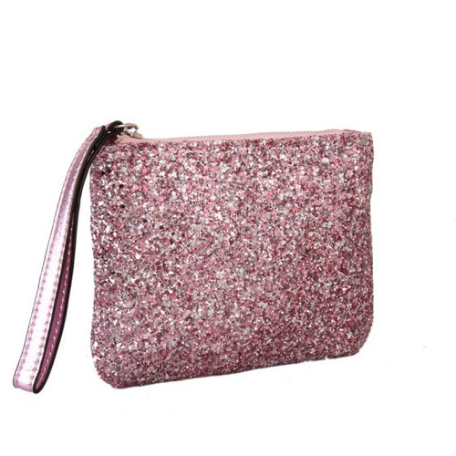 Red Cuckoo Pink Glitter Coin Purse
