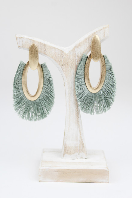 Khaki Frayed Earrings
