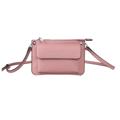 Red Cuckoo Pink Front Fastening Cross Body Bag