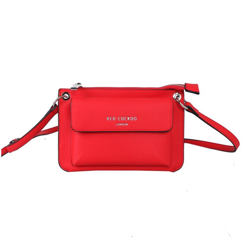 Red Cuckoo Red Front Fastening Cross Body Bag