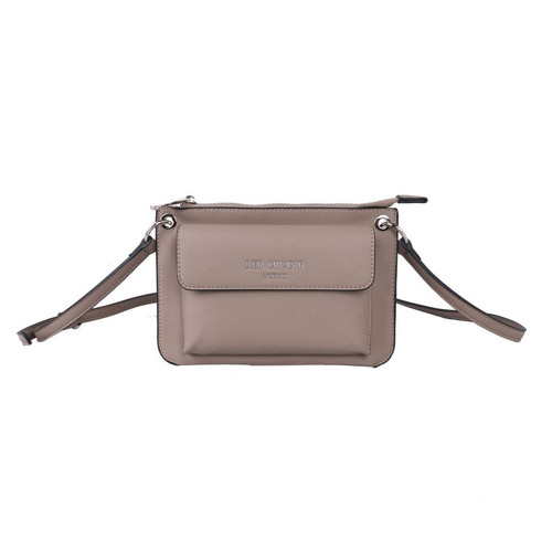 Red Cuckoo Taupe Front Fastening Cross Body Bag