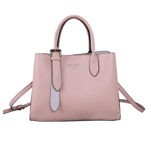 Red Cuckoo Pink Tote with Silver Buckle