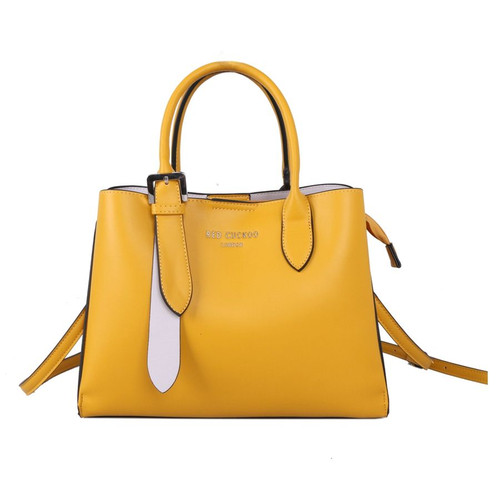 Red Cuckoo Yellow Tote with Silver Buckle