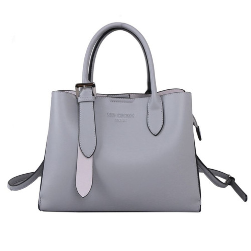 Red Cuckoo Grey Tote with Silver Buckle