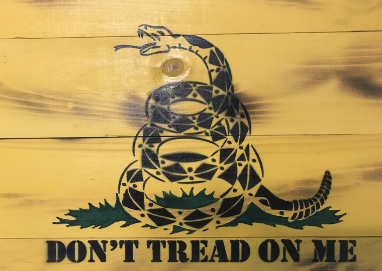 Gadsden flag wooden, Don't Tread on Me wooden sign flag, First marine flag, wood flag