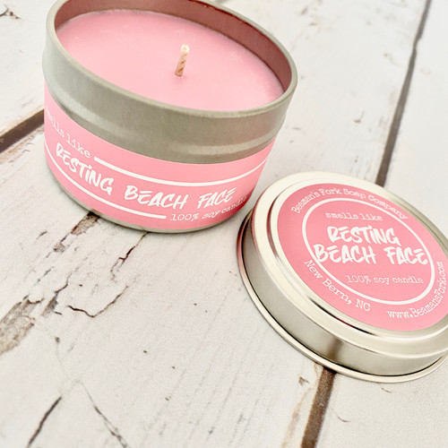 Resting Beach Face Soy Candle
