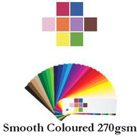 7 - Smooth Coloured 270gsm Cardstock Swatch