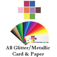 3- Glitter and Metallic Swatch's -Cardstock and Paper