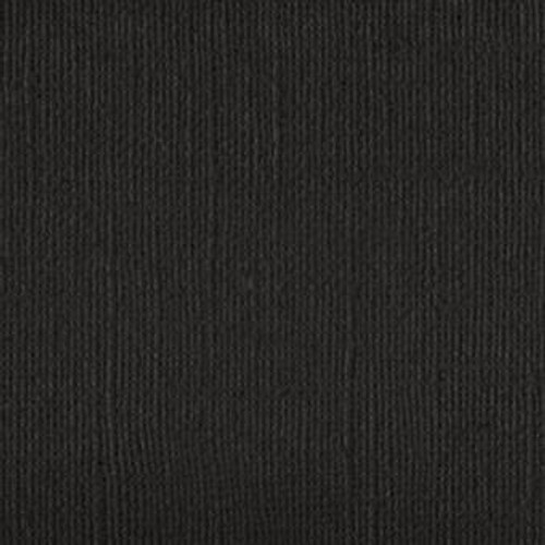Cardstock Linen textured Currawong black 12x12 size 216gsm