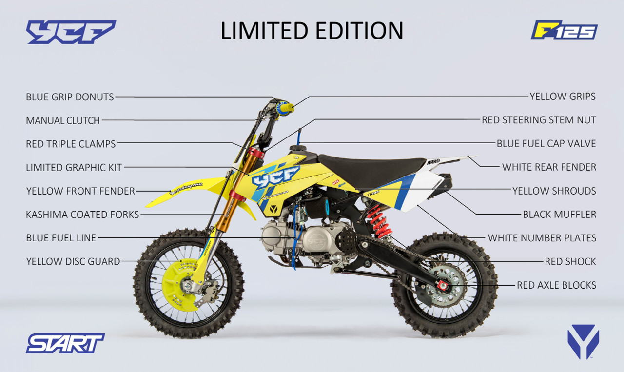 2020 YCF START F125S Limited edition. Yellow