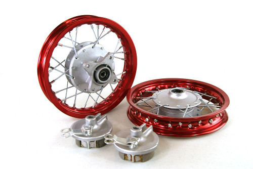 "10"" HONDA CRF50 ALUMINUM WHEELS RED"