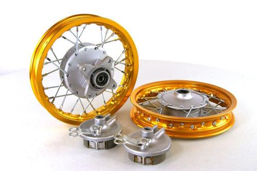 """10"""" HONDA CRF50 ALUMINUM WHEELS - GOLD"""