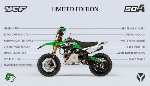 2020 YCF 50A Limited Edition Green