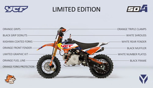 2020 YCF 50A Limited Edition Orange