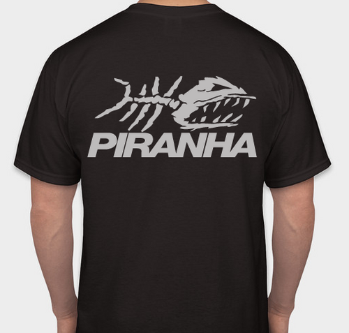 PIRANHA EXPERT T-SHIRT - BLACK 2X-LARGE