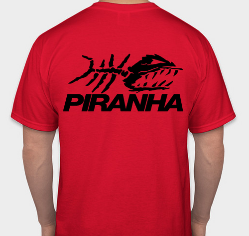 PIRANHA EXPERT T-SHIRT - RED LARGE
