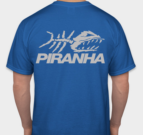 PIRANHA EXPERT T-SHIRT - BLUE 2X-LARGE