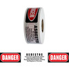 Barricade Tape - Danger Asbestos Hazard - White/Red/Black 3 inch x 1000 ft Non Adhesive 2 mil (8 Roll/Pack)