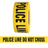 Barricade Tape - Police Line Do Not Cross - Yellow 3 inch x 1000 ft Non Adhesive 3 mil (8 Roll/Pack)