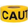 Barricade Tape Caution Yellow 3 inch x 1000 ft Non Adhesive 3 mil