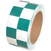 Checkerboard Vinyl Tape 2 inch x 36 yard Roll Green / White
