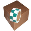 Checkerboard Vinyl Tape 2 inch x 36 yard Roll Green / White (24 Roll/Pack)
