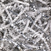 Crinkle Paper White and Silver Metallic Blend 10 lb Box