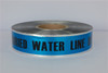 Detectable Underground Tape - Caution Buried Water Line Below - 2 inch x 1000 ft Roll (12 Roll/Pack)