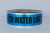 Detectable Underground Tape - Caution Buried Water Line Below - 3 inch x 1000 ft Roll (8 Roll/Pack)