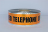 Detectable Underground Tape - Caution Buried Telephone Line Below - 3 inch x 1000 ft Roll (8 Roll/Pack)