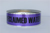 Detectable Underground Tape - Caution Buried Reclaimed Water Line Below - 3 inch x 1000 ft Roll (8 Roll/Pack)