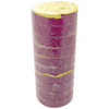 Purple Electrical Tape 3/4 inch x 66 ft Roll 7 mil (10 Pack)