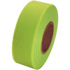 Fluorescent Lime Flagging Tape 1 3/16 inch x 150 ft Roll Non-Adhesive