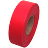 Red Flagging Tape 1 3/16 inch x 300 ft Roll Non-Adhesive