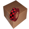 Black and Red Checkerboard Flagging Tape 1 3/16 inch x 300 ft Roll Non-Adhesive (12 Roll/Pack)