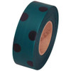 Green and Black Polka Dot Flagging Tape 1 3/16 inch x 300 ft Roll Non-Adhesive