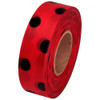 Red and Black Polka Dot Flagging Tape 1 3/16 inch x 300 ft Roll Non-Adhesive