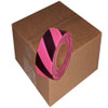 Fluorescent Pink and Black Safety Striped Flagging Tape 1 3/16 inch x 150 ft Roll Non-Adhesive (12 Roll/Pack)