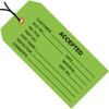 Inspection Tags Pre-Strung, ACCEPTED Green 4 3/4 inch x 2 3/8 inch (1000 Per/Pack)