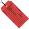 Inspection Tags Pre-Strung, REJECTED Red 4 3/4 inch x 2 3/8 inch (1000 Per/Pack)