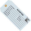 Inspection Tags 2 Part ACCEPTED Blue 4 3/4 inch x 2 3/8 inch (500 Per/Pack)