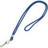 Lanyard with Hook, Blue 36 inch (24 Per/Pack)