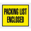 Full Face Yellow  inchPacking List Enclosed inch Envelopes 4 1/2 inch x 5 1/2 inch (1000 Pack)