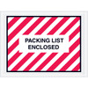 Full Face Red Striped  inchPacking List Enclosed inch Envelopes 4 1/2 inch x 6 inch (1000 Pack)